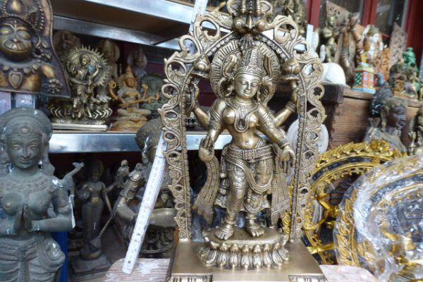 216 Lakshmi - Bronze aus Indien