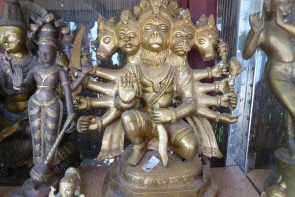 570 Hanuman - Bronze aus Indien