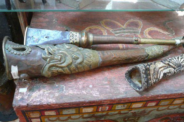 buddhistische Ritualtrompete - Nepal