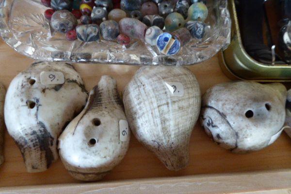 Muschelaufnäher aus Tibet - Asiatica Foth