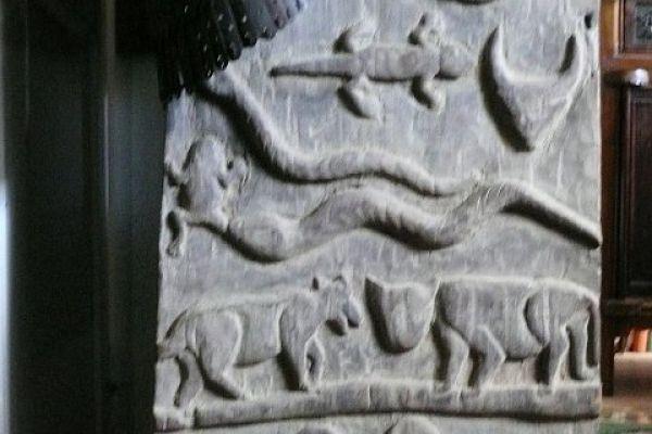 Holzrelief von Morang aus Nagaland - Asiatica Foth in Freiburg
