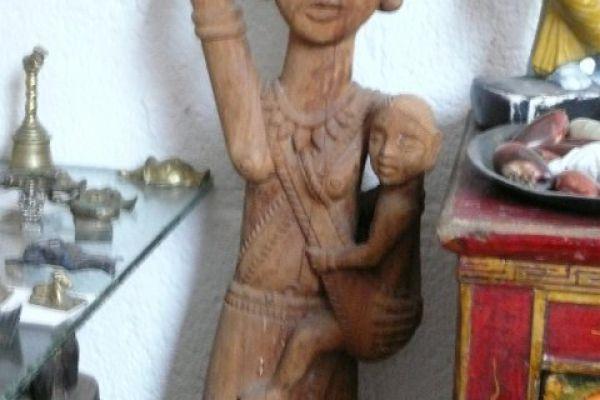 Holzschnitzerei der Kondh - Bastar Stammesgebiet