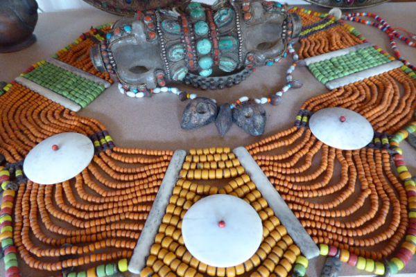 Halsschmuck aus Glasperlen - Nagaland