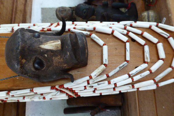Halsschmuck aus Knochen - Nagaland