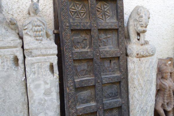 Tür von Häuptlingshaus - Eisenholz aus Bastar