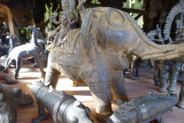 Elefantenreiter - Gelbguss aus Orissa