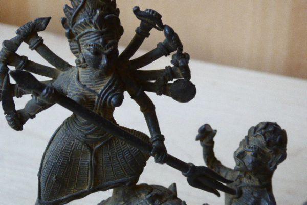 Durga - Gelbguss aus Orissa