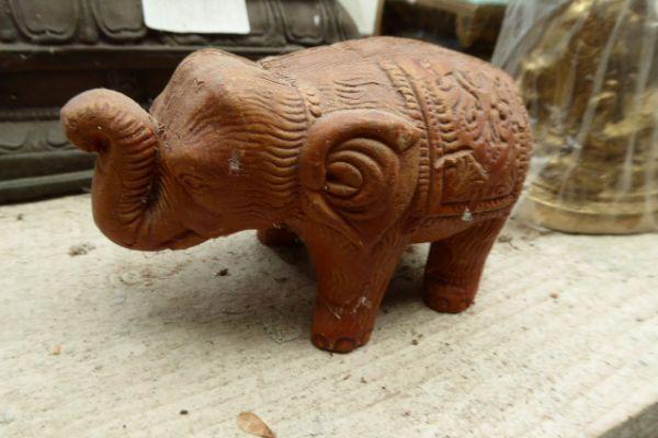 Elefant - Tonfigur aus Bastar