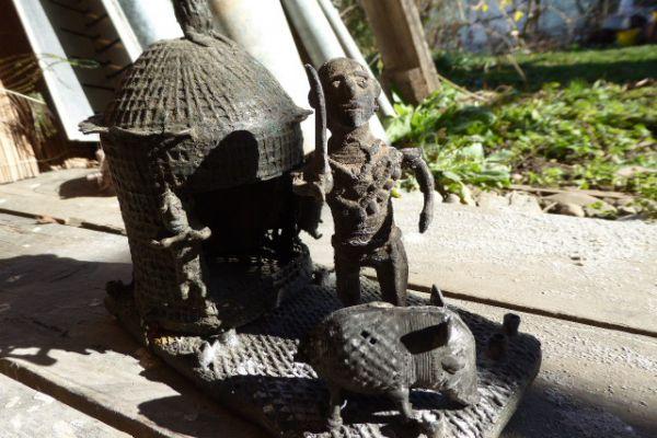 schöne Bronzen der Kondh - Gelbguss aus Orissa