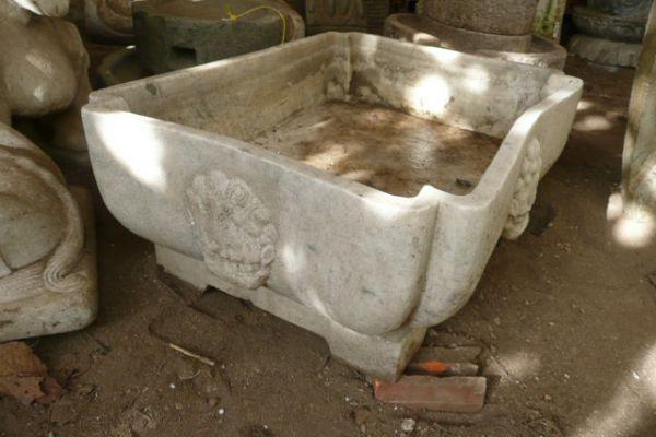 Marmorgefäß - Steinmetzarbeit aus China