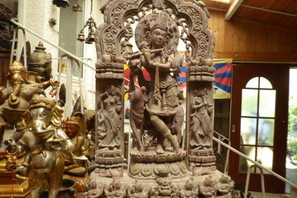 Krishna - Specksteinfigur aus Indien