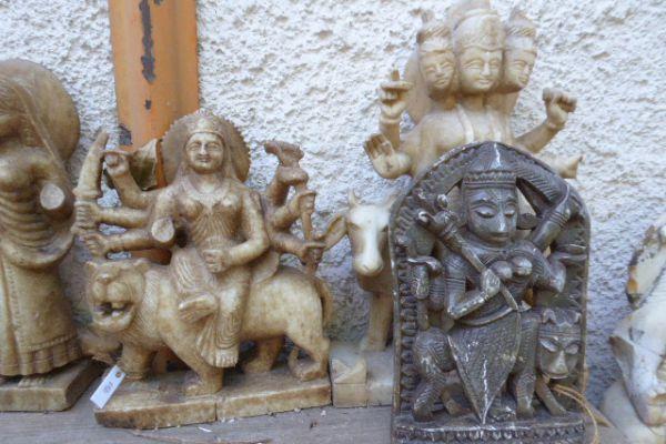 Durga Marmor Speckstein - Flußfund aus dem Ganges