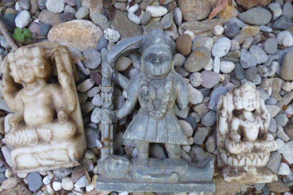 Kali - Specksteinfigur aus Indien
