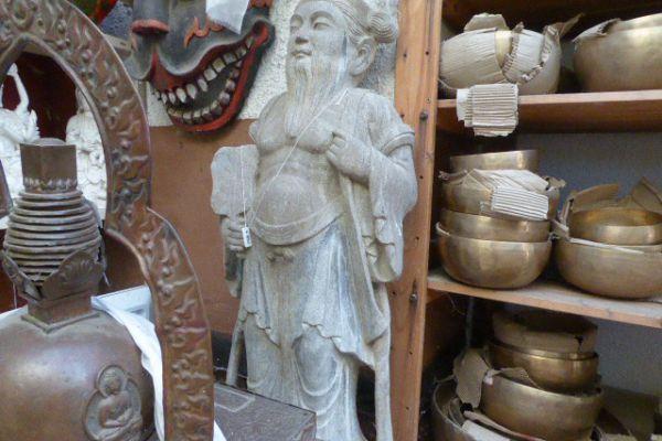 Daoist- Steinmetzarbeit aus Kalkstein