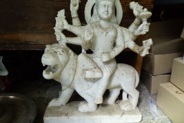 Durga - Flußfund aus dem Ganges