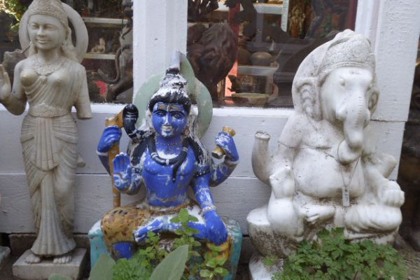 Shiva Jogeshvara Marmor - Flußfund aus dem Ganges