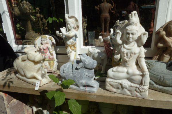 Marmorfiguren - Flußfund aus dem Ganges