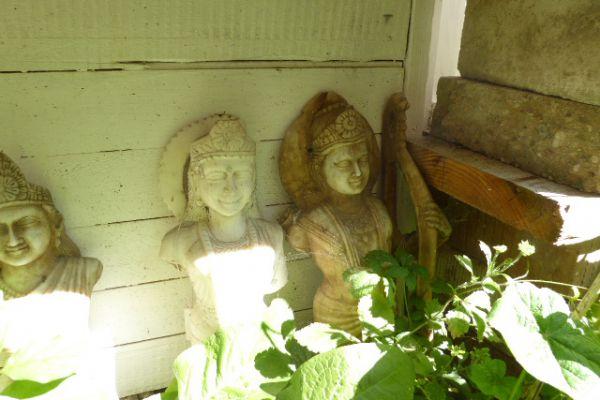Rama und Sita - Marmorfigur