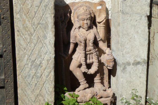 Kali - Steinmetzarbeit aus Indien