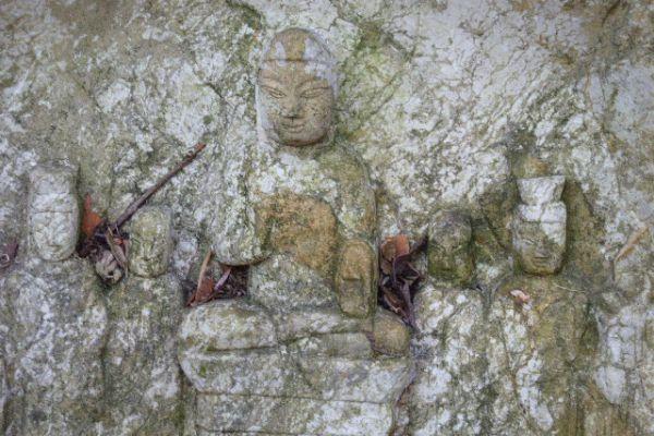 Buddharelief Kalkstein - Mongolei