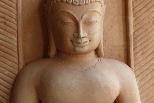 Buddhafigur - Sandstein aus Indien