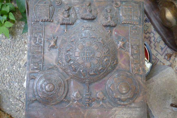 Mandala - getriebenes Kupfer