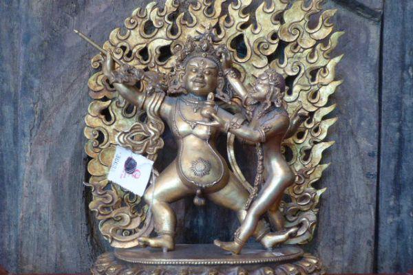Bairava - Shakjabronze vergoldet aus Nepal