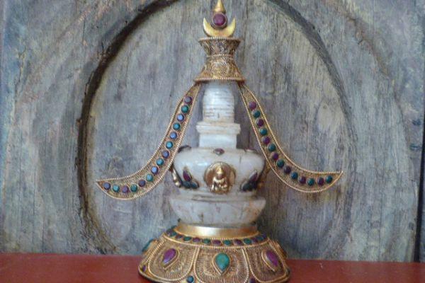 Stupa - Bergkristall aus Nepal