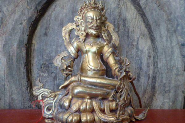 Arhat - Shakjabronze vergoldet aus Nepal