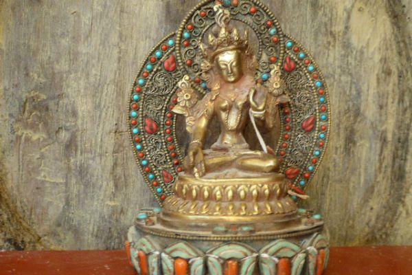 Tara - Shakjabronze vergoldet aus Nepal