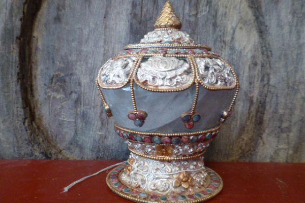 Ritualgefäß - Bergkristall aus Nepal