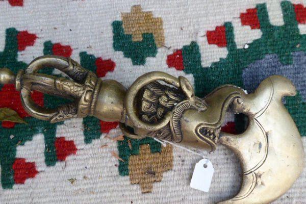 Hackmesser - Messingguß aus Indien