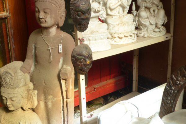 Boddhisatva - Sandsteinfigur