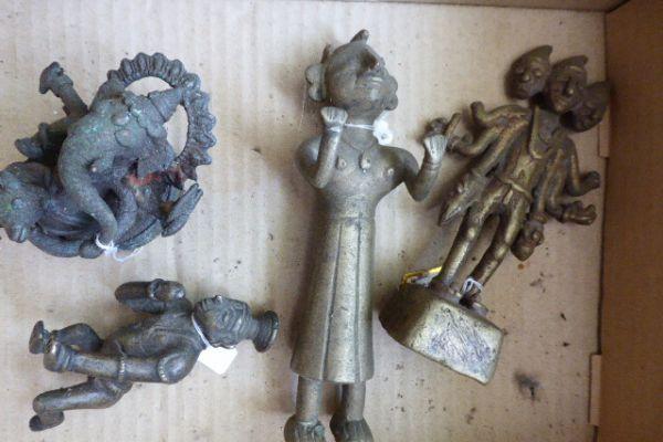 Götterfiguren Lot - Gelbguss