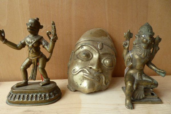 Hanuman, Khandoba und Narashima - Asiatica Foth