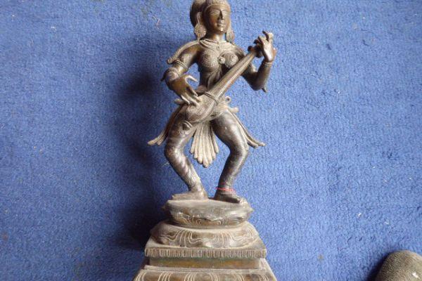 Sarasvati - südindische Bronze