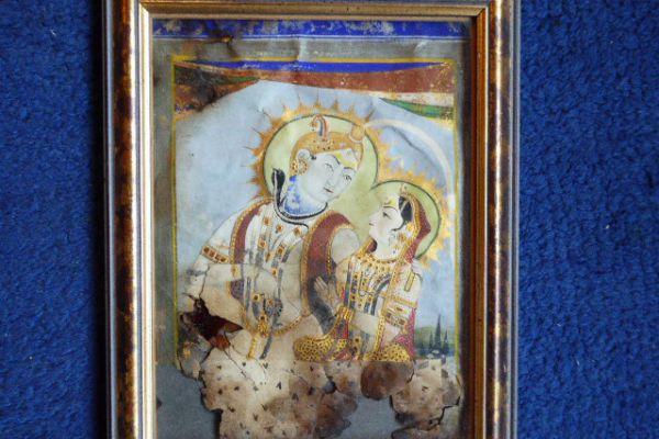Shiva Nilakantha Parvati - Miniatur Rajasthan
