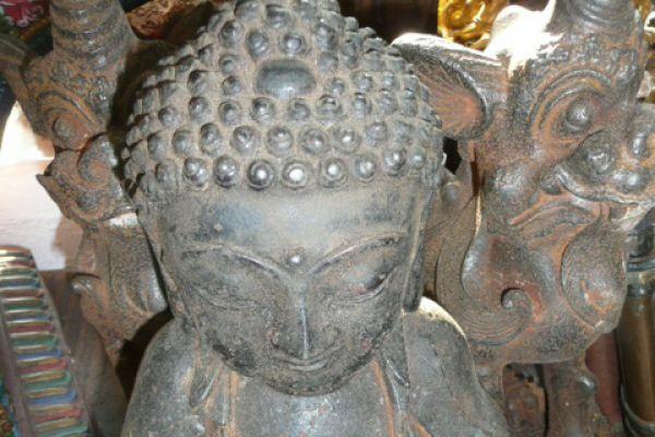 Buddha - Eisenguß aus der Mongolei