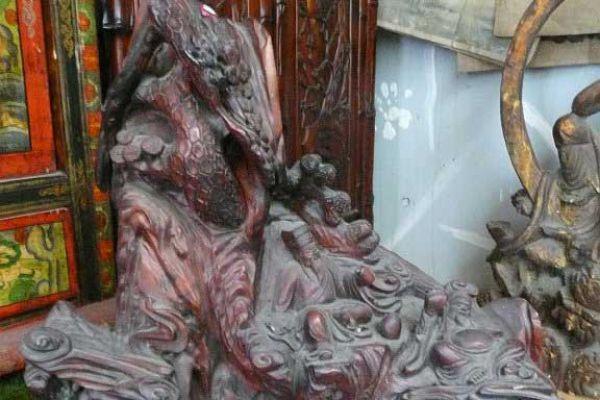 Daoistischer Himmel - Holzschnitzerei
