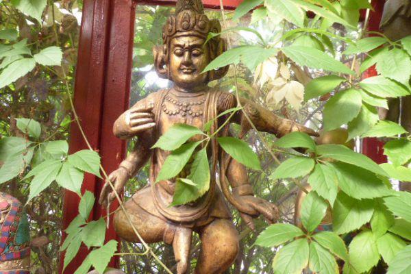 Dharmapala - Holzfigur