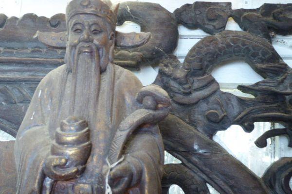 Konfuzius - Holzfigur
