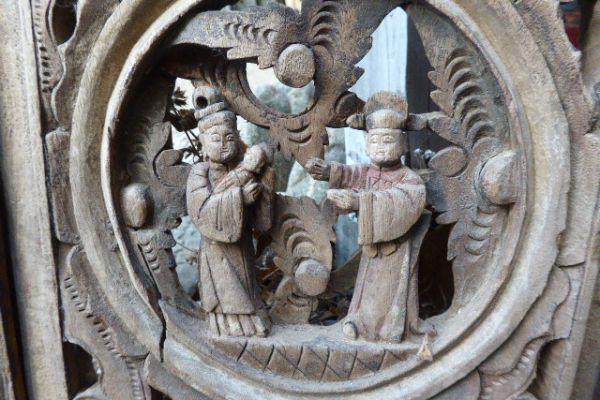 geschnitzte Holzgitter - Asiatica Foth