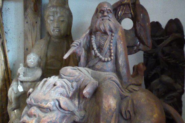 Daoist - Holzfigur