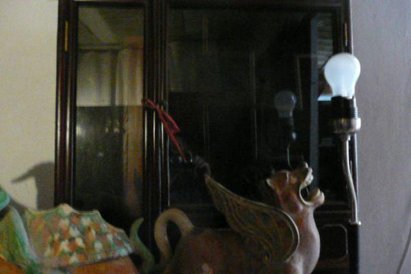 Wächterlöwen - glasierter Ton