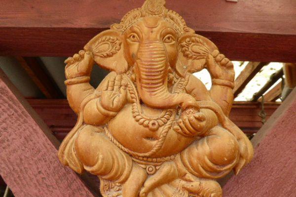 Ganesha - Tonrelief aus Indien