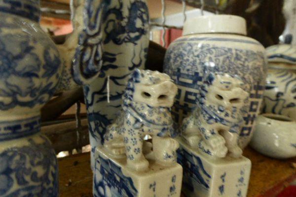 Wächterlöwen - chinesische Porzellanfigur