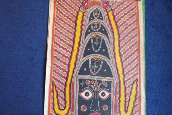 Shiva Lingam Madhubani Malerei - Asiatica Foth