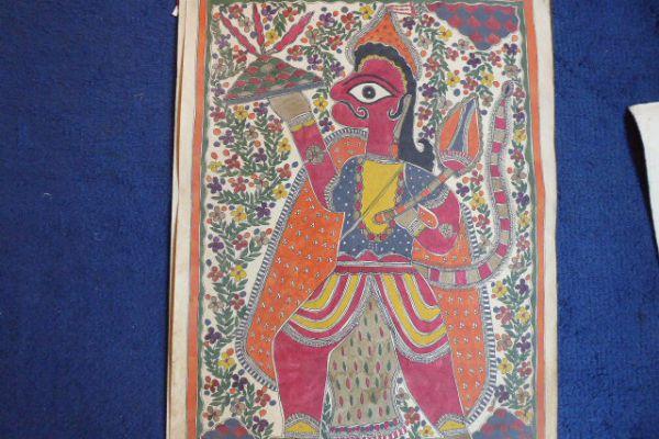 Hanuman Madhubani Malerei - Asiatica Foth