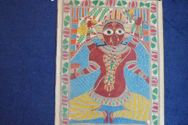 Ganesha Madhubani Malerei - Asiatica Foth