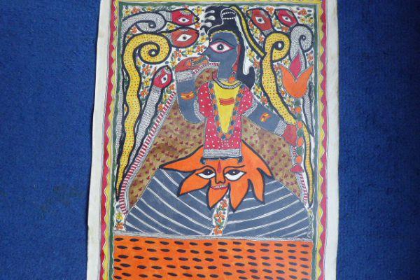Shiva Madhubani Malerei - Asiatica Foth